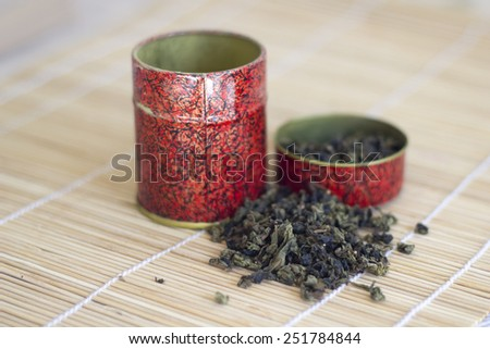 Chinese tea leaves - stock photo
