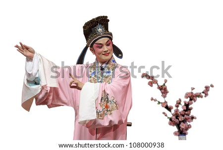 chinese traditional opera actor - stock photo