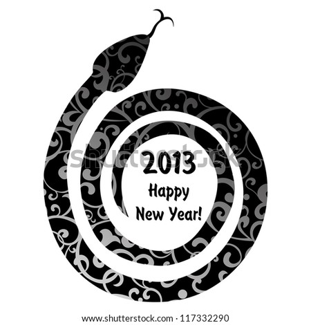 2013 Chinese Year of the Snake. Illustration - stock photo