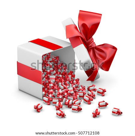 Gift Box Emitting Little Gift Boxes Stock Illustration 428868391 ...