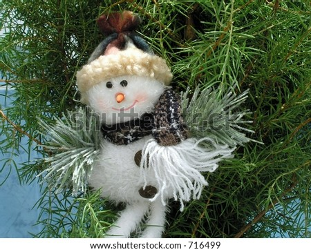 Christmas decoration.Snow man