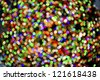 """""""Christmas Lights Background"""" An abstract look at the Christmas lights in Rockefeller Center in Manhattan. - stock photo"""