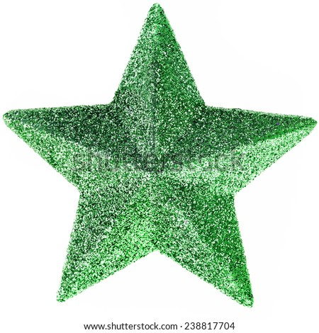 Christmas star  isolated on white - stock photo