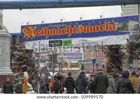 Christmas time weihnachtsmarkt  market on December 7, 2012 in Berlin Germany
