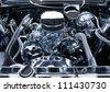 Chrome Auto Engine - stock photo