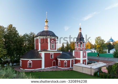 Church of the Assumption of the Blessed Virgin Mary in Suzdal. - stock photo