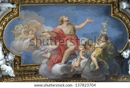 church Santa Maria in Campitelli. The church is dedicated todedicated to the Virgin Mary on the Piazza di Campitelli, Rome, Italy. - stock photo