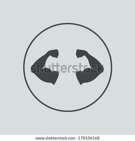 circle icon on gray background. - stock photo