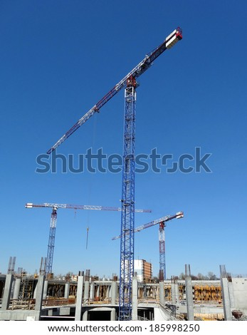City, Lodz, Poland, the construction site