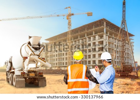 Civil engineer foreman control working construction stock for Builders in my area