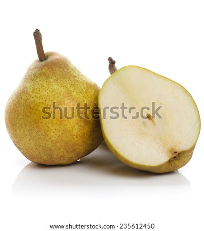 """Claude Blanchet"" pear variety, also known as ""La France"" in Japan and highly revered for its distinctive flavor, aroma, and juiciness  - stock photo"