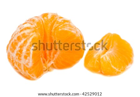 clean mandarin isolated on white background