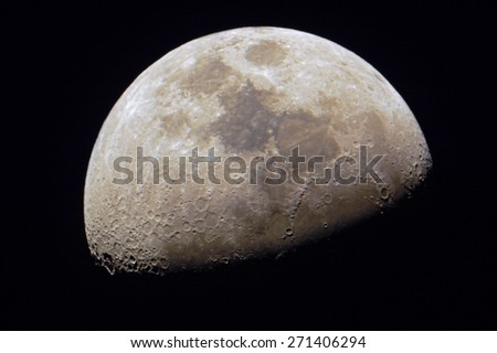 close up moon surface with details - stock photo