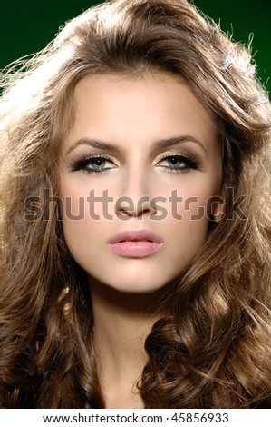 Close-up of beautiful face of woman