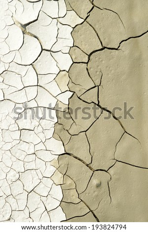 Close up of  dry cracked earth texture