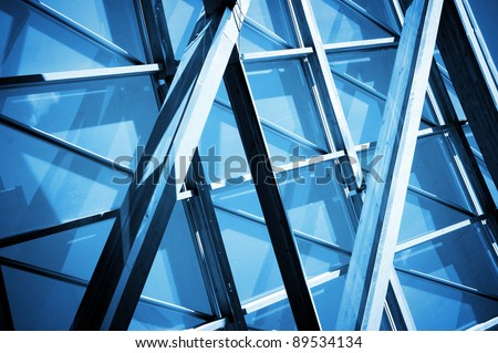close up of  steel contraction structure abstract technology background , - stock photo