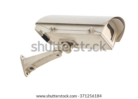 closed circuit camera on white background