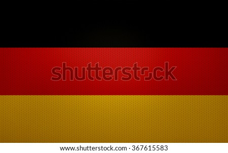 Closeup of Germany flag