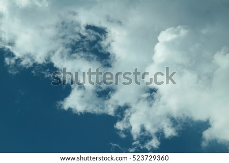 Cloud and sky , Picture with space for text