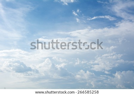 clouds in the sky. - stock photo