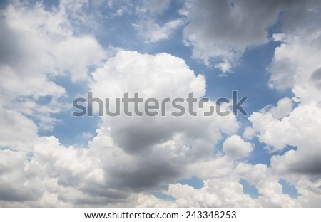cloudy with sky