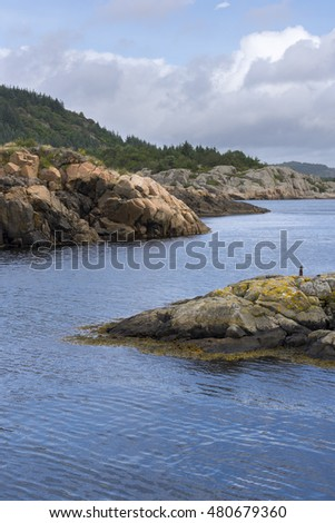 coast of Mandal in Norway