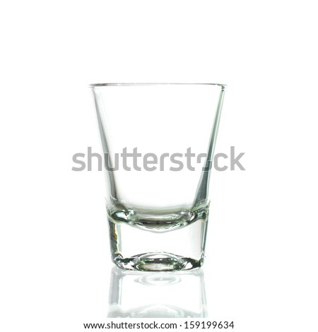 Cocktail Glass Collection - Small Shot. Isolated on white background  - stock photo
