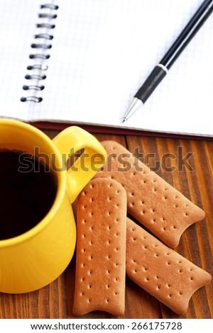 Coffee break at work - stock photo