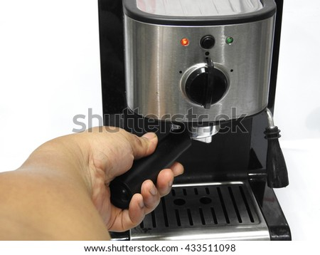 Coffee making by coffee maker.