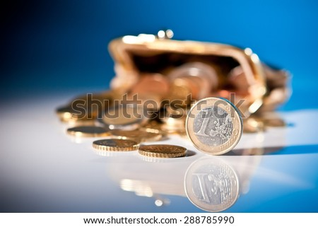 Coins out of the purse