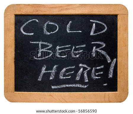 """""""Cold Beer Here"""" Sign - stock photo"""