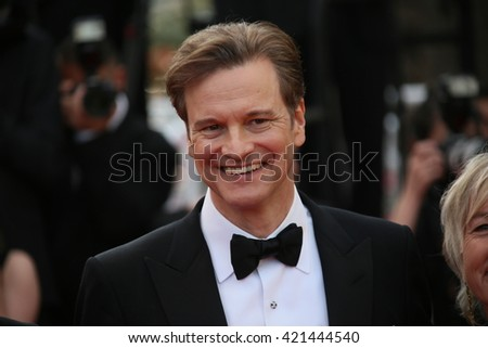 Colin Firth attends the 'Loving' Photocall at the annual 69th Cannes Film Festival at Palais des Festivals on May 16, 2016 in Cannes, France. - stock photo