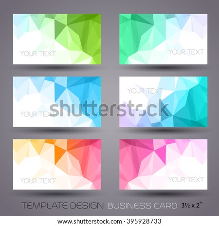 color abstract geometric banner with triangle.