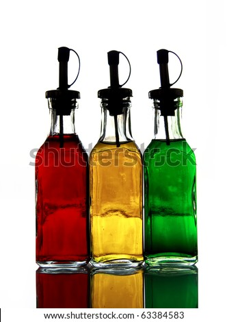 3 color flask - stock photo