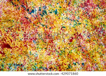 color ink on paper, formless abstraction                               - stock photo