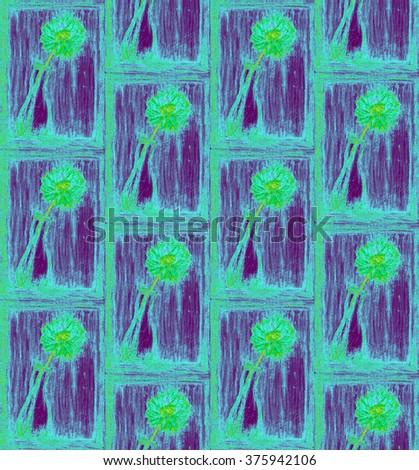Color Pencil Vase Flower Stock Illustration 375942106 Shutterstock