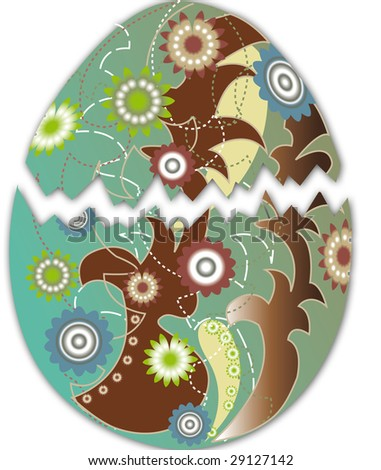 Colored Easter Egg - stock photo