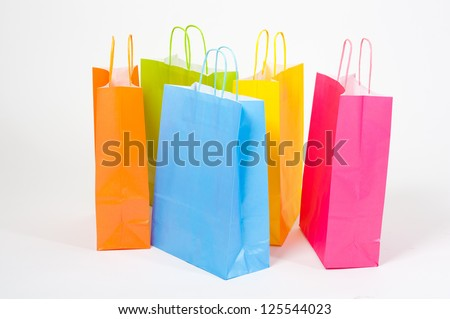 colored shopping bag isolated