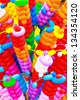 colorful balloons twisted - stock photo