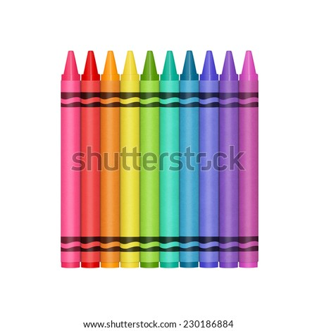 Colorful rainbow selection. - stock photo