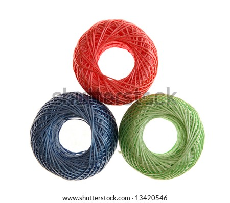 3 colorful ropes bunch