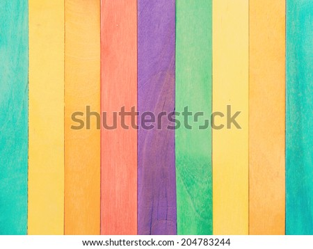 Colorful Wood Background old retro vintage style - stock photo