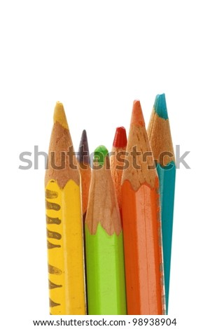 colorful wood pencil - stock photo
