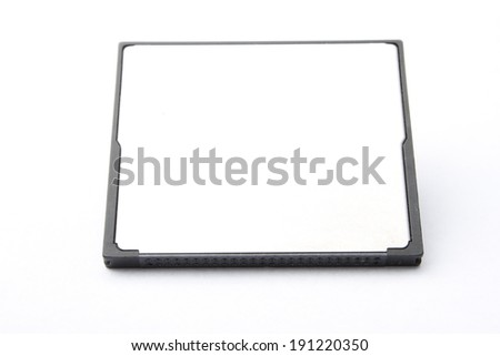 compact flash memory card on white