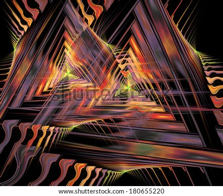 Computer generated fractal artwork for creative needs