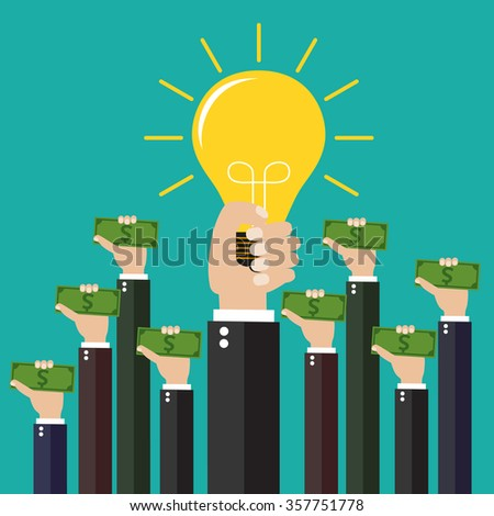concept for investing into ideas - stock photo