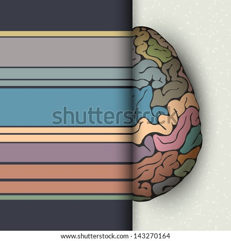Concept of human brain. Raster version - stock photo