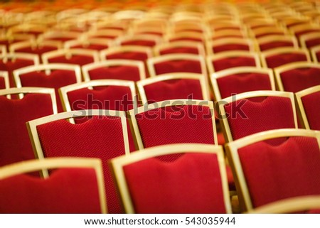 conference hall. Chairs