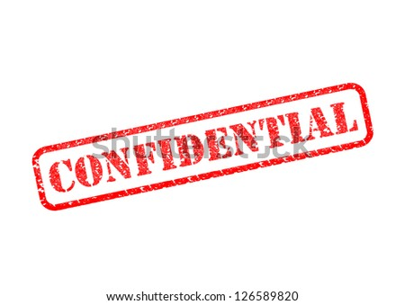 'CONFIDENTIAL' Red Stamp over a white background. - stock photo