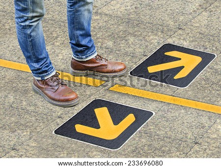 confusion , direction , arrow - stock photo